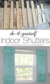 diy interior window shutters. Plain Window Tutorial  How To Build Indoor Shutters  Aqua Lane Designs On  Remodelaholiccom  Inside Diy Interior Window Y