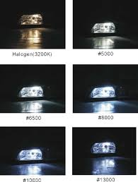 Color Temperature Chart For Headlights Color Temperature Of H4 Bulbs