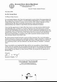 General Letter Of Recommendation For A High School Student