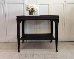 vintage white accent table wrought iron tables truck sold solid wood brown end side kitchen excellent