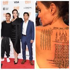 анджелина джоли не запрещает детям делать татуировки