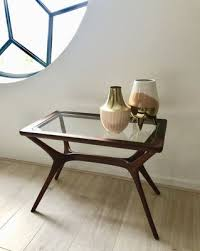 mid century modern coffee table in
