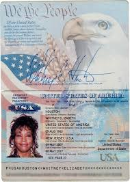 2007 Entertainment In Lot Passport Houston Heritage Auctions 2019 Signed Whitney - Us Passport Music Houston 89112