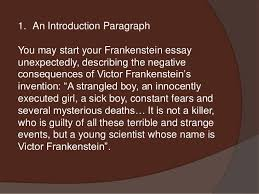 frankenstein essay 9 1 an introduction paragraph you start your frankenstein essay