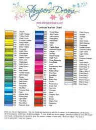 This Chart Came In So Handy When I Received My Tombow 96