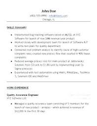 Qc Resume Sample Resume Format For Quality Control Engineer Unique ...