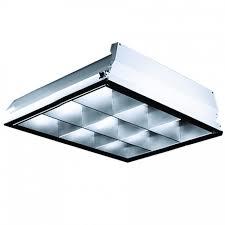 lithonia 2x2 parabolic troffer 9 cell 2 lamp 32w t8 u bend single ballast