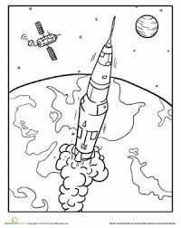 Small Picture Outer Space Coloring Pages Educationcom
