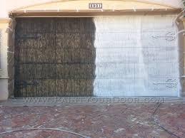 painting garage doorLight House Point  Garage Door Restoration and Painting Wood
