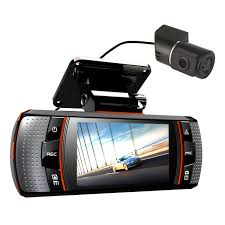 2 7 inch dual lens car dash camera 1080p dvr video cam night