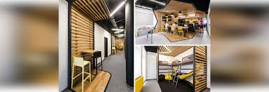 office define. Unique Office This New Office Interior Uses Wood And Black Frames To Clearly Define Spaces Intended E