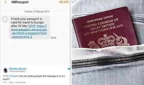 pport office texts britons to renew