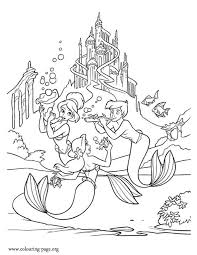 Small Picture 363 best Ariel coloring pages images on Pinterest Adult coloring
