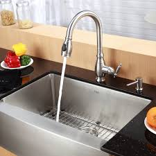 inch farmhouse sink stainless steel kitchen combination kraususa single bowl with faucet and soap dispenser discontinued copper farm a white cast iron