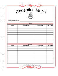 Party Planning Lists Printable Wedding Planner Free Printables