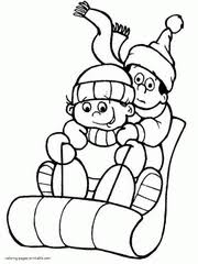 These coloring pages make excellent holiday crafts. Winter Coloring Pages Free Printable Winter Scene Sheets
