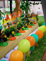Jungle Decoration Jungle Theme Party Decorations Decorating Of Party