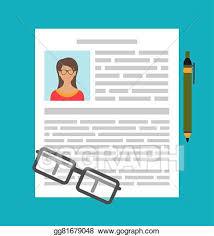 Vector Clipart Writing A Business Cv Resume Vector Illustration