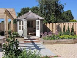 Small Picture view to summerhouse in Gloucestershire garden by Chameleon Design