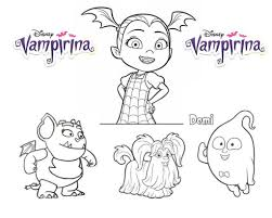 Straight from the beloved disney junior series, see vampirina take center stage in her very own, free to color coloring page! Vampirina Coloring Pages And Friends 101 Coloring