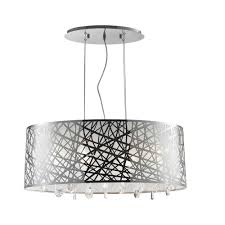worldwide lighting julie 6 light chrome oval drum chandelier with clear crystal shade
