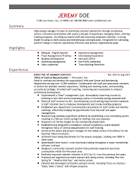 Professional Membership On Resumes Professional Director Of Member Services Templates To Showcase Your
