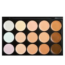 professional 15 colors concealer color 1 face cream care camouflage makeup blush palettes cosmetic base