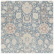 Scale All Over Design Light Blue Persian Kerman Carpet For