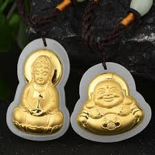 whole 3 d inset s hetian gold pure gold with hetian guanyin laughing buddha pendant manufacturers whole glass pendant necklace letter pendant
