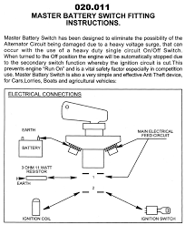 wiring diagrams for classic car parts from holden vintage panel mounted fia approved battery master switch