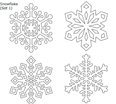 So if you can find thin, large colored paper you can make even bigger snowflakes than these. Seven Free Printable Snowflake Sets Pdf Snowflake Template Christmas Stencils Free Stencils