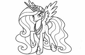 Small Picture My Little Pony Princess Celestia Coloring Pages GetColoringPagescom