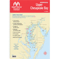 Upper Chesapeake Bay Chart Maptech Waterproof Chartbook Upper Chesapeake Bay