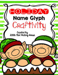 Holiday Name Holiday Name Glyph Craftivity