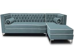 Living Room: Tufted Sleeper Sofa Elegant Gray Color Modern Tufted Sectional Sleeper  Sofa With -