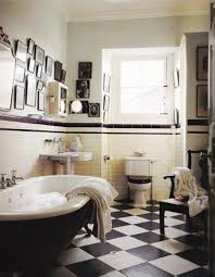 Black And White Bathroom Decor Black And White Tile Bathroom Decorating Ideas Black And White