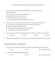 Customer Service Survey Template Free Customer Satisfaction Templates Free Template Voipersracing Co
