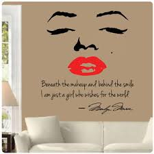 Image is loading Marilyn-Monroe-Wall-Decal-Decor-Quote-Face-Red-