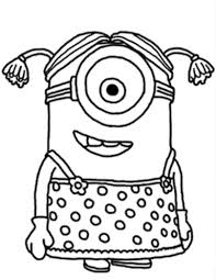 Small Picture Download and Print Minion Girl Despicable Me Coloring Pages