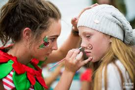 elf events face painting thep party girl