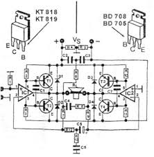 200 watt high quality audio amplifier schematic design