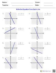 writing linear equations worksheets