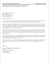 High School Teacher Letter Of Recommendation For College Under