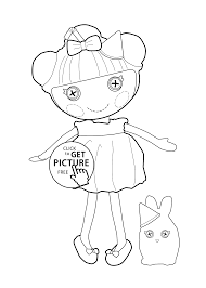 Lalaloopsy Doll Coloring Page For Kids Printable Free Frost