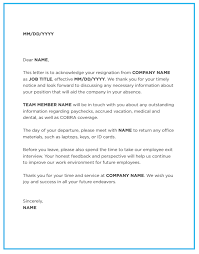 Resign Template Best Resignation Letter This Site Provides That About Resignation
