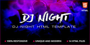 Party Template Dj Night Event Dj Party Music Club Html Template By Teqbees
