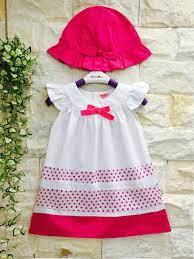 Váy đầm bé gái mix màu kèm nón thời trang