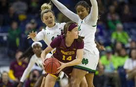 Notre Dame Basketball Depth Chart Gophers Womens Basketball Beats Notre Dame In Big Ten Acc