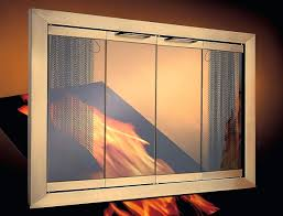 Glass Fireplace Doors For Gas Logs Prefabricated Fireplaces Home ...
