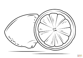 Small Picture Lemon cross section coloring page Free Printable Coloring Pages
